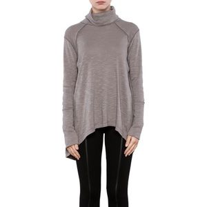 Free People Split Back Turtleneck Sweater